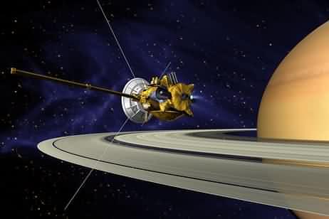 Passage à proximité de Saturne (crédit : NASA/JPL)
