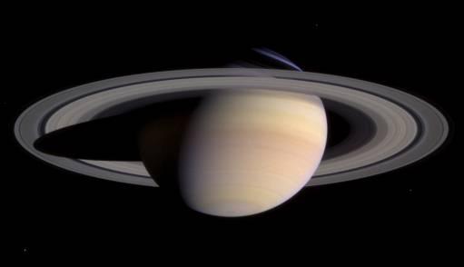 Photographie de Saturne prise par Cassini le 27 Mars 2004 (crédit : NASA/JPL)